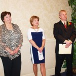 Image of Girard School District Foundation board members Deb Faulkner, Mary Kay Borkowski, Vice-President and MC Mike Mikovich